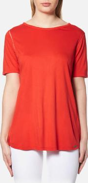 Women's Taplisse T Shirt Bright Red Xs Red