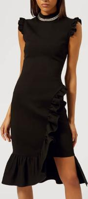 Women's Bodycon Frill Dress