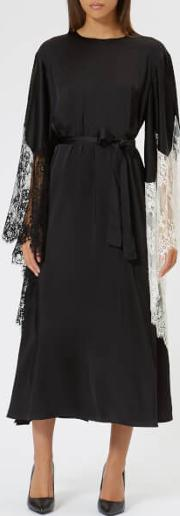 Women's Sating Dress With Crystals