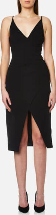 women's hold on midi dress black s black
