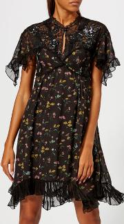 Women's Forest Floral Printed Babydoll Dress