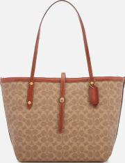 Women's Coated Canvas Signature Market Tote Bag