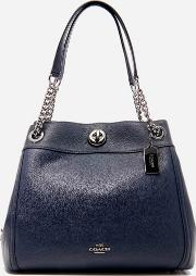 Women's Turnlock Edie Shoulder Bag Navy