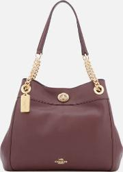 Women's Turnlock Edie Tote Bag Oxblood