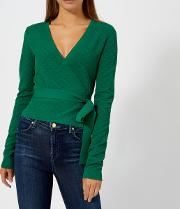 Women's Long Sleeve Wrap Sweater Pine