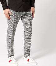 Men's Cigarette Fit Houndstooth Trousers