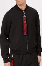 Men's Classic Bomber Jacket With Tape Pull