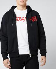 Men's Cool Fit Zip Through Hoodie With Logo Back