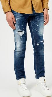 Men's Slash Light Wash Slim Jeans