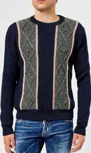 Men's Stripe Knitted Jumper