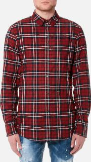 Men's Wired Collar Check Shirt
