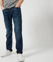 Men's Ed 55 Regular Tapered Jeans Mid Coal Wash W30l30