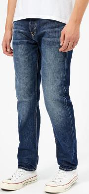 Men's Ed 80 Slim Tapered Rainbow Selvage Denim Jeans Hikaru Wash W30l32