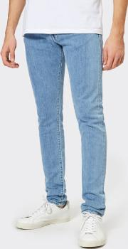 Men's Ed-85 Slim Tapered Drop Crotch Red Listed Selvage Denim Jeans