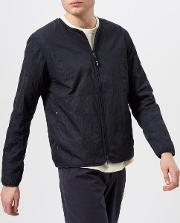 Men's Collarless Nylon Jacket