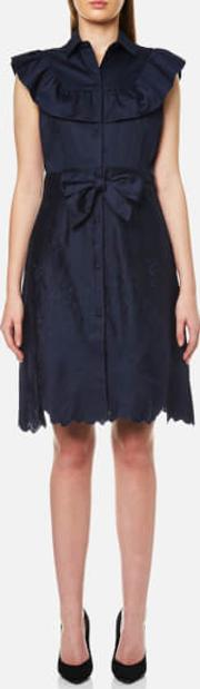 Women's Eletta Button Up Dress Blue