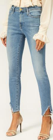 Women's Le High Skinny Side Fray Jeans