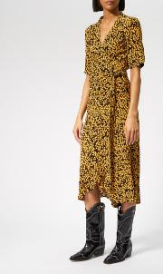 Women's Goldstone Crepe Wrap Dress