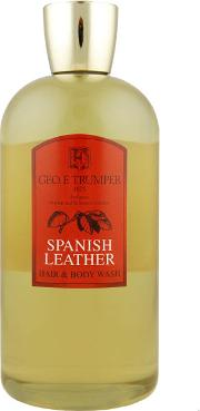 Travel Spanish Leather Hair And Body Wash 500ml
