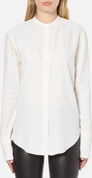Women's Back Knot Long Sleeve Blouse White