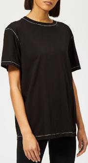 Women's Contrast Stitch Detail T-shirt