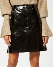 Women's Patent Leather Five Pocket Skirt