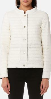 Women's Matt And Shiny Side Long Sleeve Quilted Coat