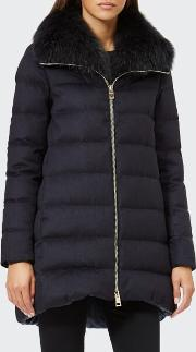 Women's Padded Coat With Fur Collar