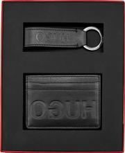 Men's Gift Box With Single Card Case And Leather Key Ring