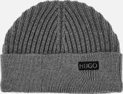 Mens Xianno Wool Knitted Beanie Hat Grey