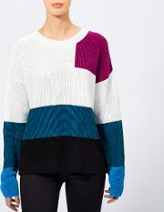 Women's Sarabi Colour Block Knitted Jumper