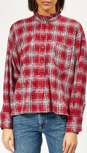 Isabel Marant Etoile Women's Dresden Checked Cotton Shirt