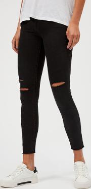 Women's 8227 Mid Rise Cropped Skinny Jeans