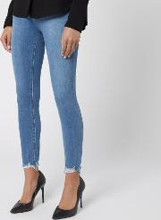 Women's Alana High Rise Crop Skinny Jeans