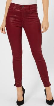Women's Alana High Rise Crop Skinny Jeans Oxblood