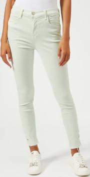 Women's Alana High Rise Skinny Cropped Jeans Spearmint Destruct
