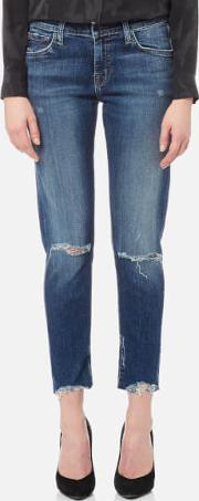 Women's Sadey Slim Straight James Jeans Revoke Destruct