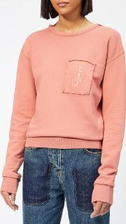 Women's Garment Dyed Jwa Anchor Patch Sweatshirt