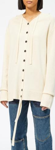 Women's Wool Cashmere Hooded Cardigan