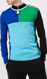Men's Cycling Colour Block Knitted Jumper