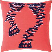 Tiger Cushion Cover Red