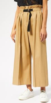 Women's Cropped Large Belted Pants