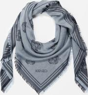 Women's Tiger Heads Carre Scarf