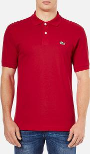 Men's Basic Pique Short Sleeve Polo Shirt