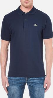 Men's Basic Pique Short Sleeve Polo Shirt Navy