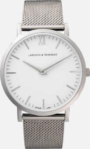 Women's Lugano 40mm Silver Stainless Steel Metal Watch