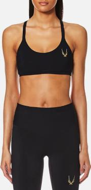 Women's Core Performance Cross Back Sports Bra Black L Black