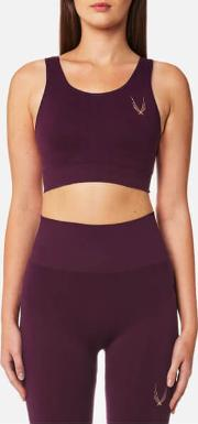 Women's Core Technical Knit Classic Sports Bra Aubergine