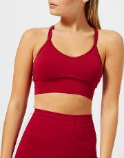 Women's Orbit Technical Knitted Adjustable Sports Bra Garnet