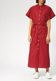 Maison Kitsune Women's Poplin Isabella Long Shirt Dress